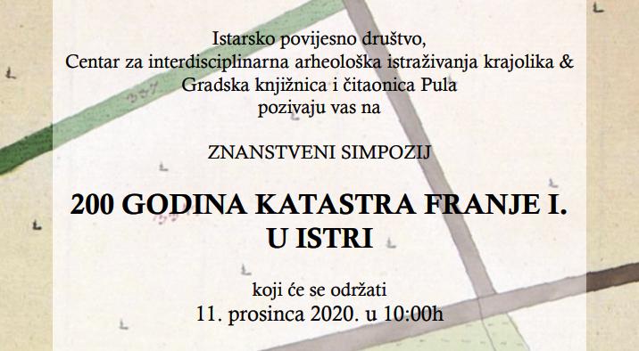 AMZ – Znanstveni simpozij 200 godina Katastra Franje I. u Istri (PRESS)