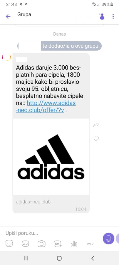 Adidas ne poklanja tenisice-u pitanju je virus! | Regional Express