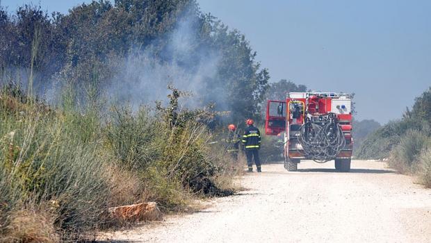 Požar otvorenog prostora između Peroja i sv. Foške-80884