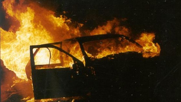 Izgorio automobil kod Gračišća-54574